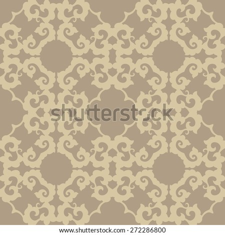 Abstract vintage seamless floral pattern. Repeating vector background for fabric, prints, cards - stock vector