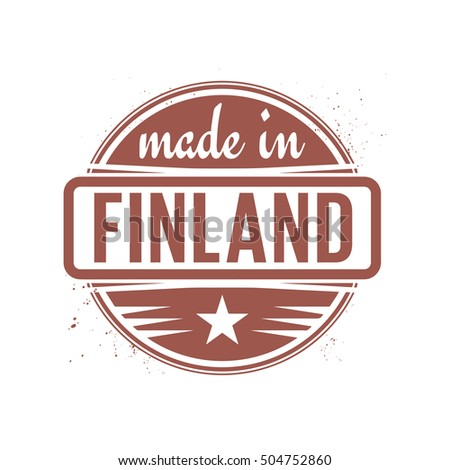 Abstract vintage stamp or seal with text Made in Finland, vector illustration