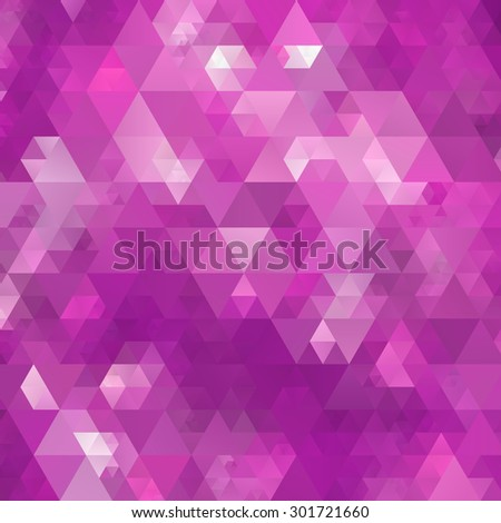Abstract violet triangle texture background - stock vector