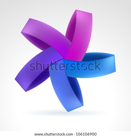 Abstract Violet Web Element. Illustration on white - stock vector