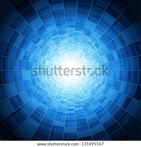 Abstract virtual space vector background