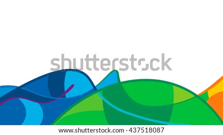 Abstract vision of earth and sea. Rio 2016 vector template for backgrounds, cards, web and journals.