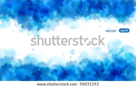 Abstract water color background illustration, with free space for the text