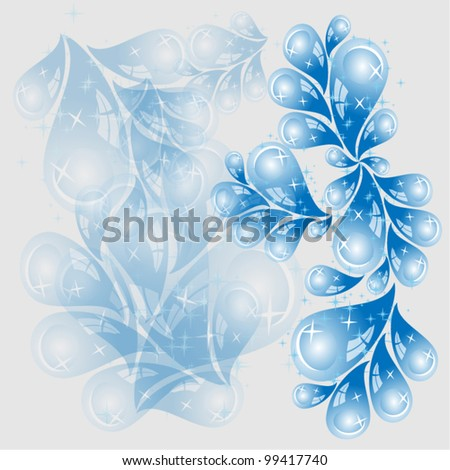 Abstract water drops background vector different uses - stock vector