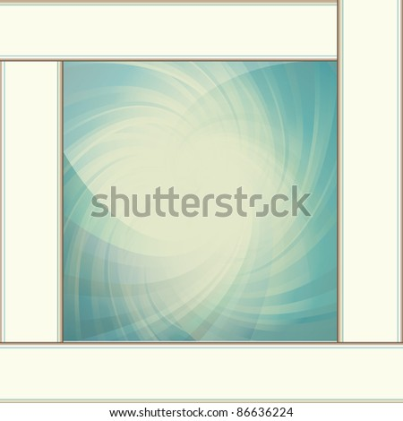 Abstract water vintage vector background - stock vector