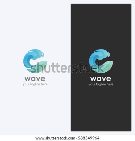 Create a Logo Free  Abstract Wave Logo Templates