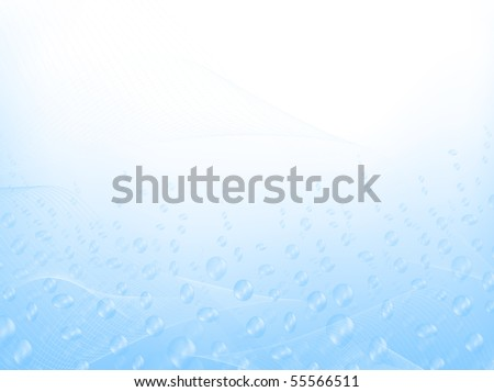 abstract water with bubbles and blend,copyspace for your text