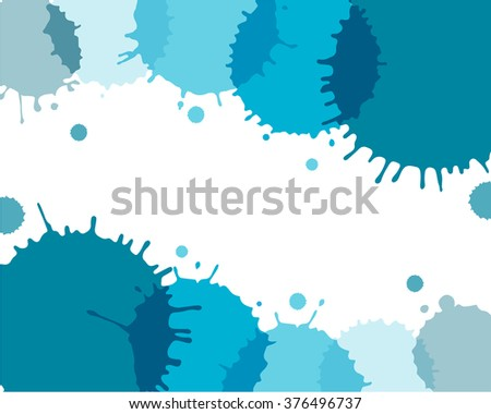 Abstract watercolor art paint on white background, vector