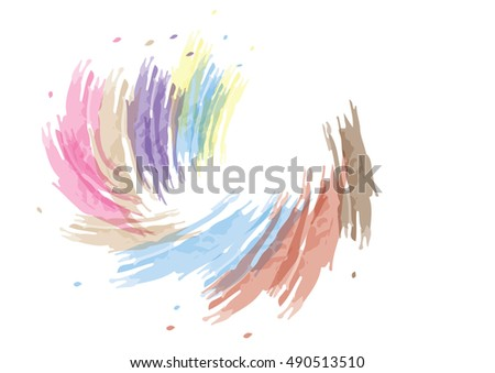 abstract watercolor background colorful