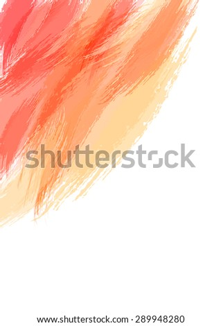 Abstract watercolor brush stroke background. Vector background illustration. Artistic background.