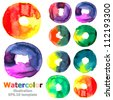 Abstract watercolor collection ; EPS.10 vector - stock vector