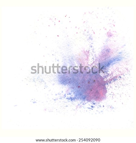 Abstract watercolor colorful background with splash. Vector background. - stock vector