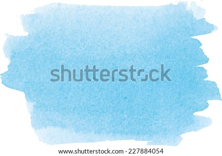 Abstract watercolor hand paint texture, isolated on white background, blue watercolor textured backdrop, watercolor drop, traced, vector eps 8