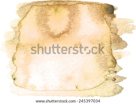 Abstract watercolor hand paint texture, isolated on white background, blue watercolor textured backdrop, watercolor drop, traced, vector eps 8 - stock vector