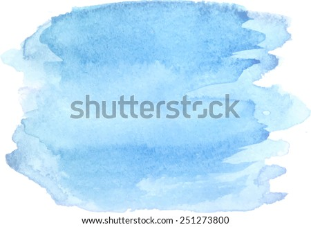 Abstract watercolor hand paint texture, isolated on white background, watercolor textured backdrop, watercolor drop, traced, vector eps 8 - stock vector