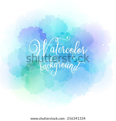 Abstract watercolor hand paint texture. Vector illustration EPS10 - stock vector