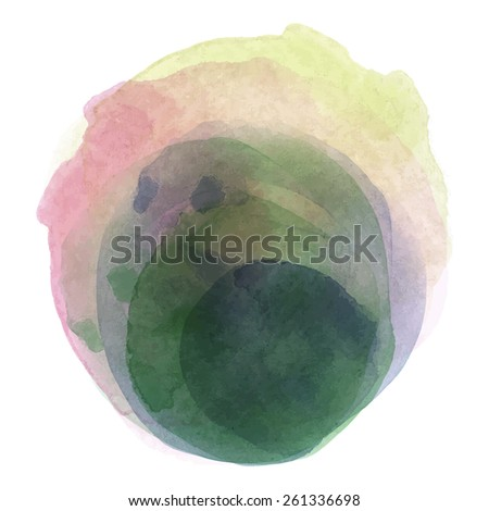 Abstract watercolor paint : vector eps.10 - stock vector