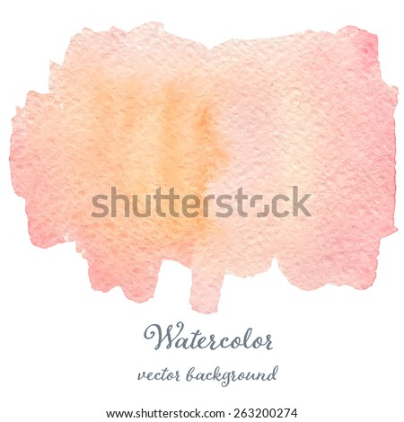 Abstract watercolor pink and rose hand drawn texture, isolated on white background, vector eps10 - stock vector