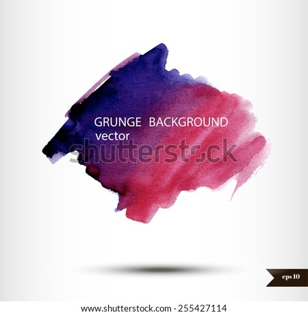 Abstract watercolor splash banner.?olorful watercolor background - stock vector