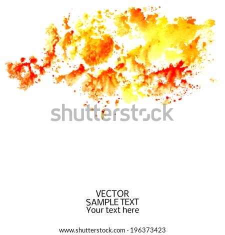 Abstract watercolor-style vector background.