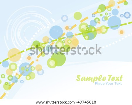 Abstract wave and ring background