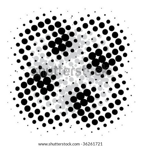 abstract wave and wind halftone - stock vector