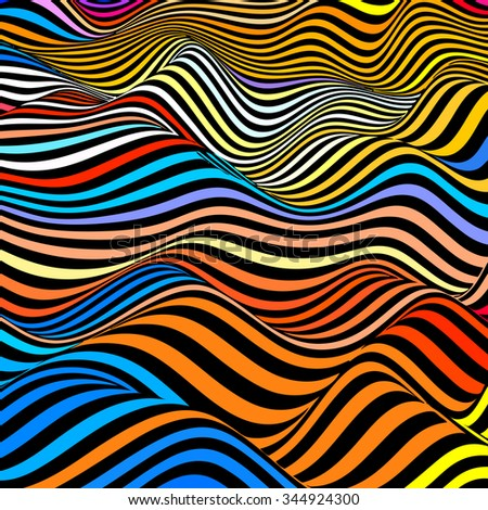 Abstract wave background in vector - stock vector