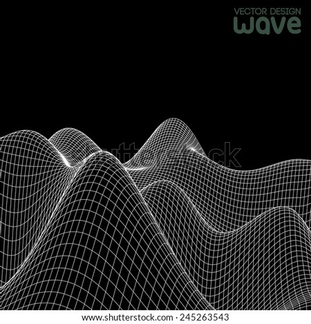 Abstract wave background. Vector design.