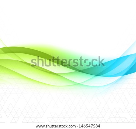 Abstract wave design element - stock vector