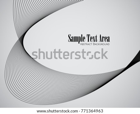 Line The Art Element : Abstract wave element design stylized line art stock vector royalty