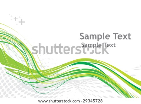 abstract wave halftone line background, vector illustration