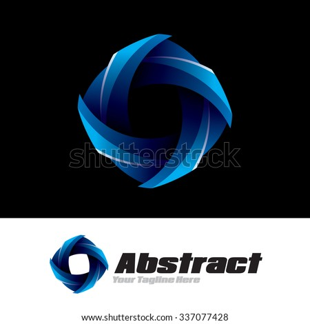 Abstract Wave Icon Logo Element - stock vector