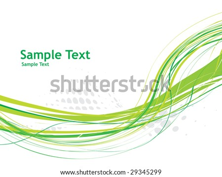 abstract wave line background with sample text, vector illustration