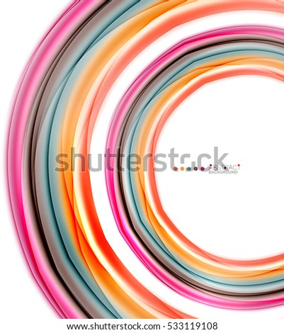 Abstract wave on white, background template