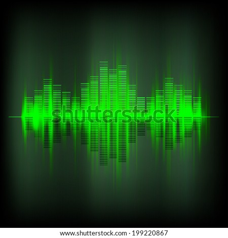 Abstract waveform music equalizer, vector background