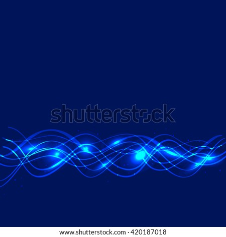 Abstract waves background. Vector illustration in blue colors.