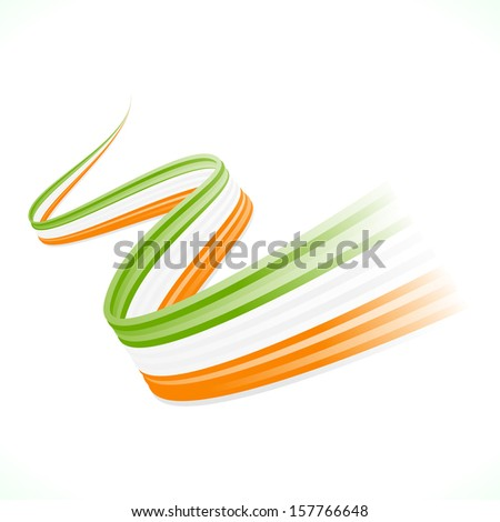 Abstract waving Irish flag isolated on white background  - stock vector
