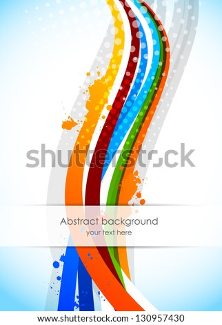 Abstract wavy background - stock vector