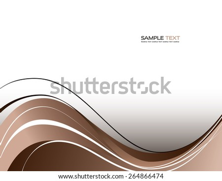 Abstract wavy background. - stock vector