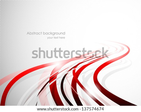 Abstract wavy background. Bright illustration - stock vector