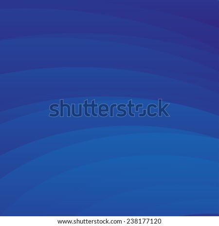Abstract wavy background in blue tones  - stock vector