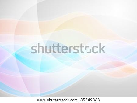 Abstract wavy design. Vector illustration eps 10 - stock vector