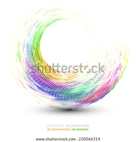 Abstract wavy & dotted shape illustration - stock vector