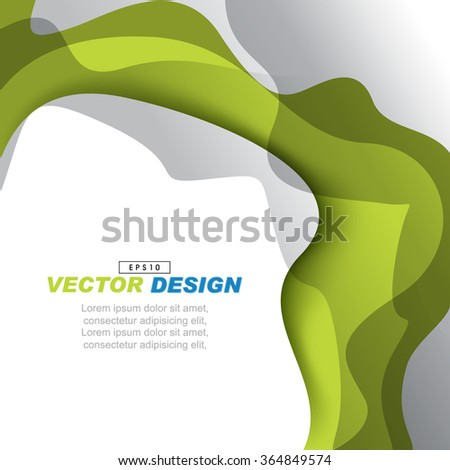 abstract wavy elements design empty space advertisement background illustration. eps10 vector - stock vector