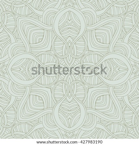 Abstract wavy line vector symmetry ornament. Can use like seamless pattern.