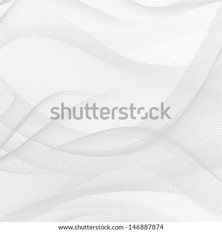 abstract wavy lines background with grey & white colors, ideal for business cover designs - stock vector