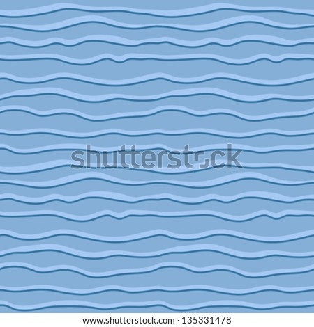 Abstract wavy lines, vector seamless pattern - stock vector