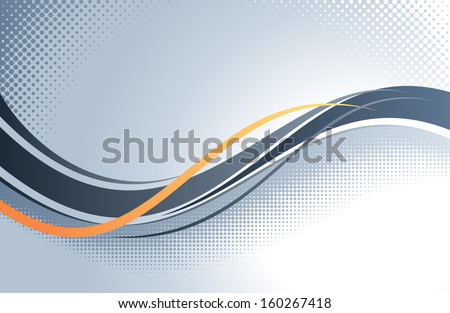 Abstract wavy vector background.  - stock vector