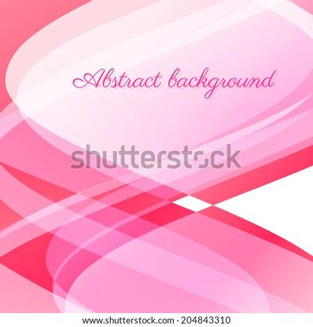 Abstract wavy vector background in pink