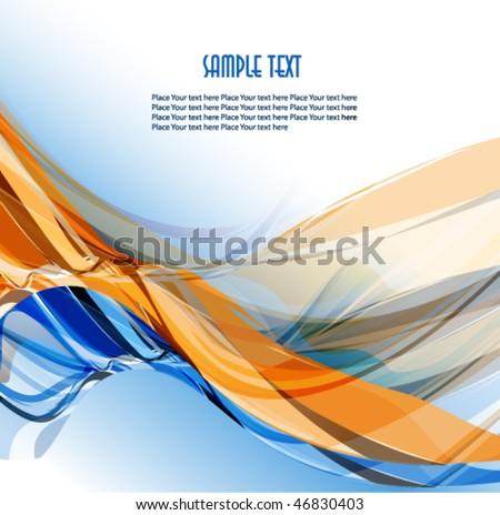 Abstract wavy vector design - stock vector